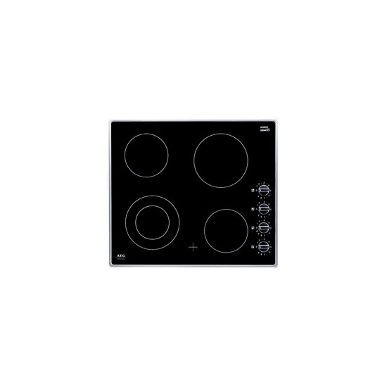Electric Hob 4 zone ceramic hob Stainless Steel