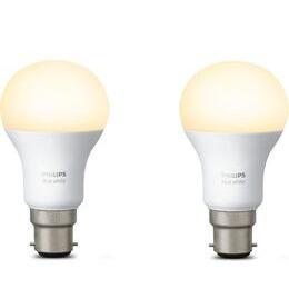 Philips Hue Hue White B22 Smart Bulb - Twin Pack
