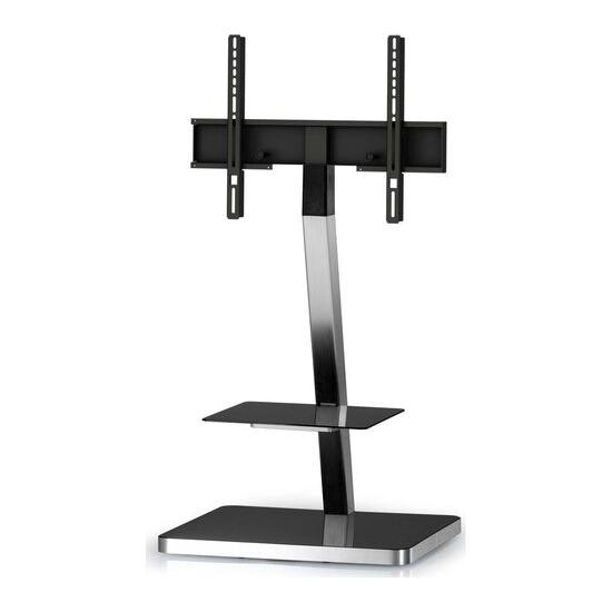 PL2710-BLK-SLV 600 mm TV Stand with Bracket - Black & Silver