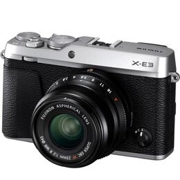 Fujifilm X-E3 Mirrorless Camera with XF 23 mm f/2 R WR Lens - Silver
