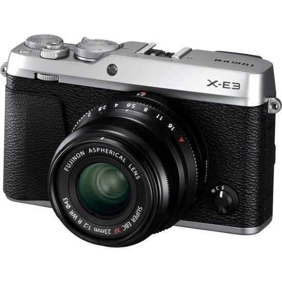 Fujifilm X-E3 Mirrorless Camera with XF 23 mm f/2 R WR Lens - Silver