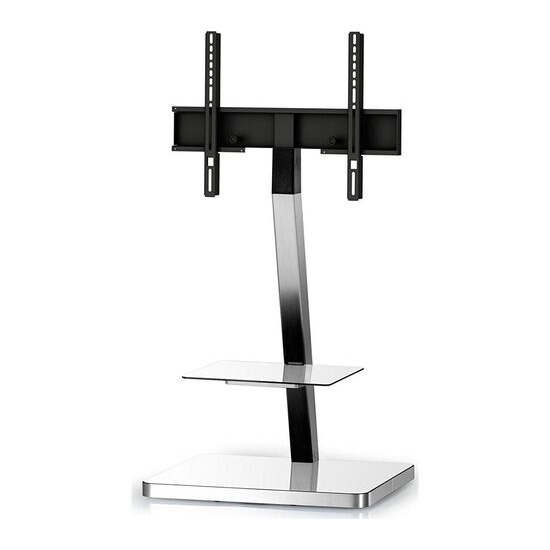 PL2710-WHT-SLV 600 mm TV Stand with Bracket - White & Silver