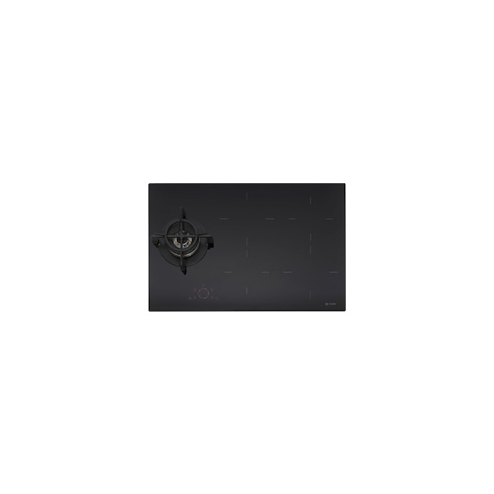 Caple C896IBK Black glass Induction and gas hob