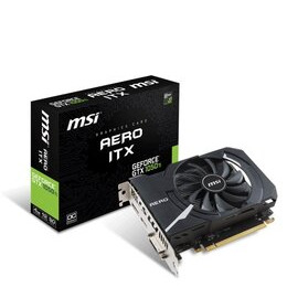 MSI GeForce GTX 1050 Ti AERO ITX 4G OC 4GB GDDR5 Graphics Card Reviews