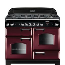 Rangemaster Classic 110 Gas Range Cooker - Cranberry & Chrome Reviews