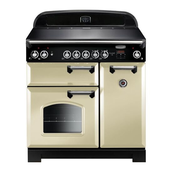 Rangemaster Classic 90 Electric Ceramic Range Cooker - Cream