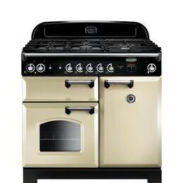RANGEMASTER CLA100DFFCR/C 90 cm Dual Fuel Range Cooker - Cream & Chrome