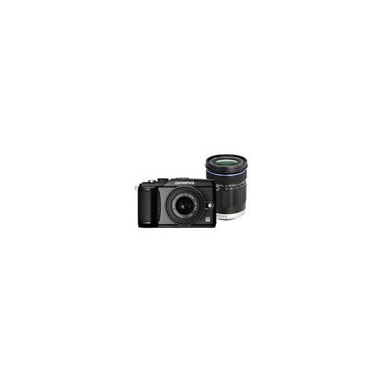 Olympus E-PL2 with 14-42mm lens and 40-150mm lens