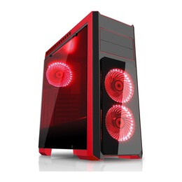 CIT Flash Black & Red Midi Tower Case