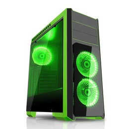 CIT Flash Black & Green Midi Tower Case Reviews