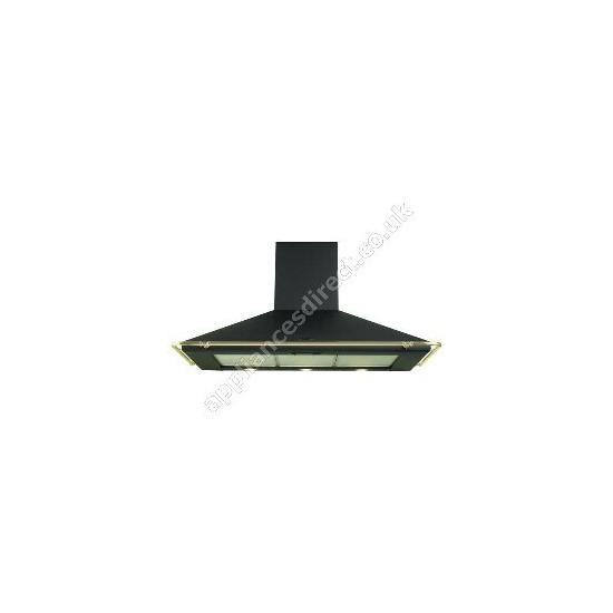 Belling CHIM100Blk black chimney hood