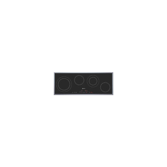 Neff T13H4N0 ''Series 4'' 90cm Ceramic Hob with Stainless Steel Frame