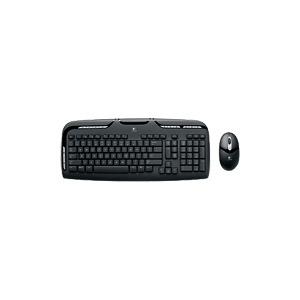 Photo of Logitech Cordless Desktop EX 110 - Keyboard - Wireless - RF - Mouse - USB / PS/2 Wireless Receiver - English - United Kindom Keyboard
