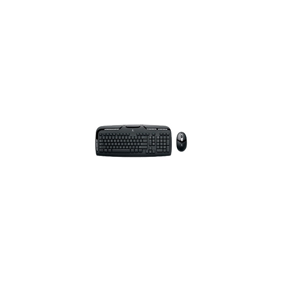 Logitech Cordless Desktop EX 110 - Keyboard - wireless - RF - mouse - USB / PS/2 wireless receiver - English - United Kindom