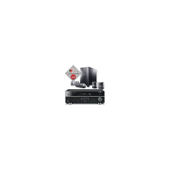 Canton Movie 125MX Speaker Package And Yamaha RX-V567 AV Receiver With Free Cable Pack
