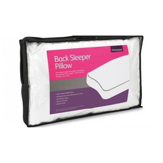 Sleepmasters Back Sleeper Pillow