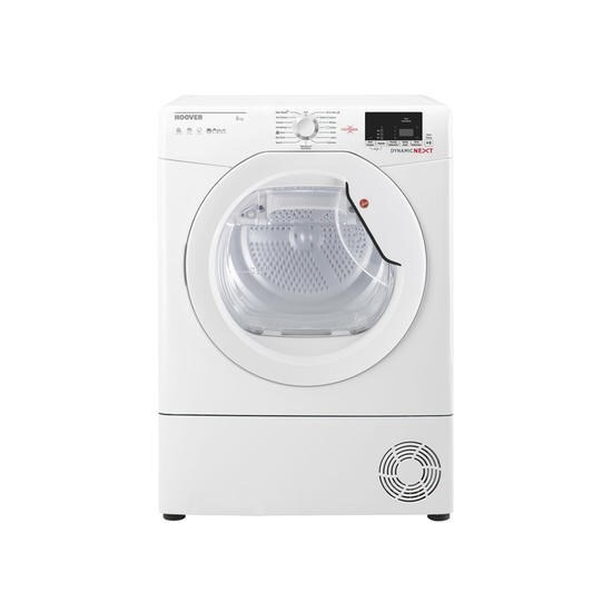 Hoover DXC8DE Dynamic Next Aquavision 8kg Freestanding Condenser Sensor Tumble Dryer With One Touch