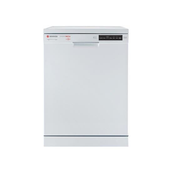 Hoover HDP3D062DW 16 Place Freestanding Dishwasher With One Touch And Auto Open Door - White