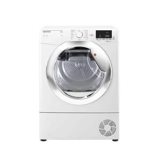 Hoover HLC9DCE Link 9kg Freestanding Condenser Sensor Tumble Dryer With One Touch With Chrom