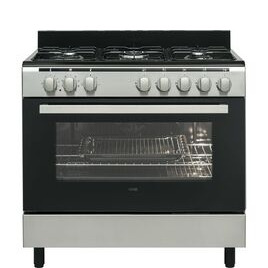 LOGIK LFTG90X17 90 cm Dual Fuel Range Cooker Inox Reviews