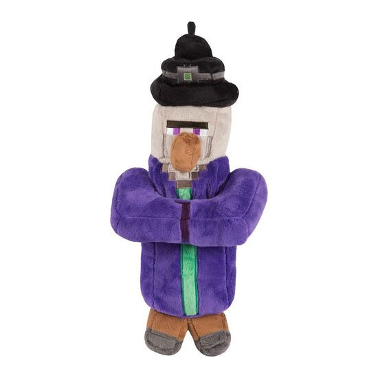 """MINECRAFT Witch Plush Toy with Hang Tag - 14"""", Purple"""