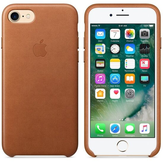 Leather iPhone 7 Case - Saddle Brown