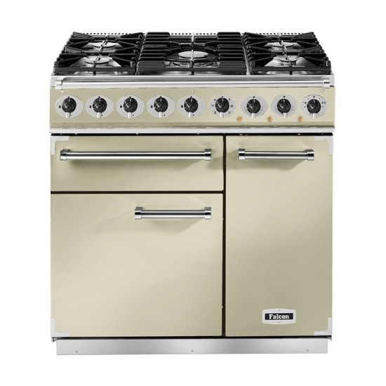Falcon F900DXDFCRBM 77000 - 900 Deluxe 90cm Dual Fuel Range Cooker
