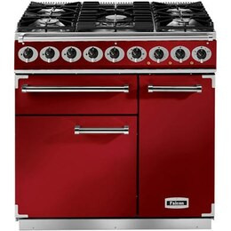 Falcon F900DXDFRD/NM 87080 - 900 Deluxe 90cm Dual Fuel Range Cooker
