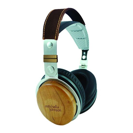 M&J JP1 DJ Headphones - Black Wood