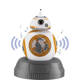 STAR WARS BB8 Portable Bluetooth Wireless Speaker - White Gold & Grey