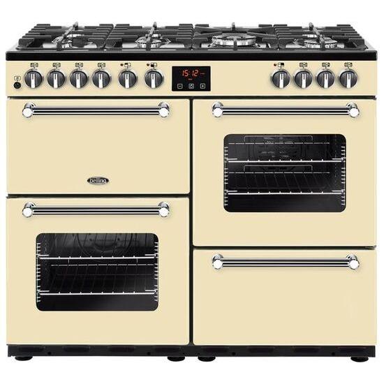 Belling Kensington 100DFT Dual Fuel Range Cooker Cream Chrome