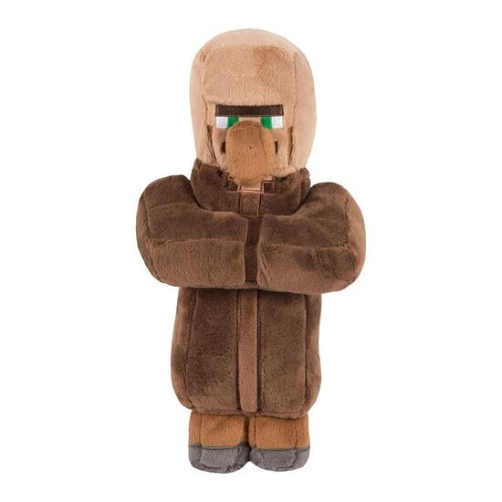 "MINECRAFT Villager Plush Toy with Hang Tag - 12"", Brown"