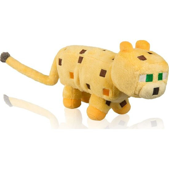 """MINECRAFT Ocelot Plush Toy with Hang Tag - 14"""", Yellow"""