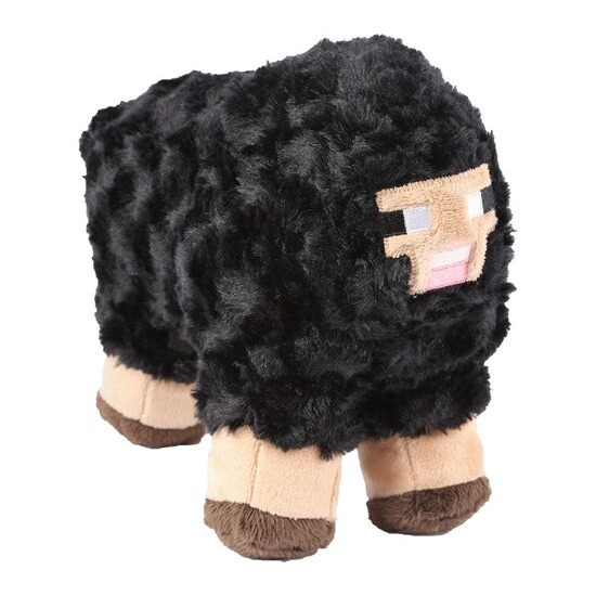 "MINECRAFT Sheep Plush Toy with Hang Tag - 10"", Black"