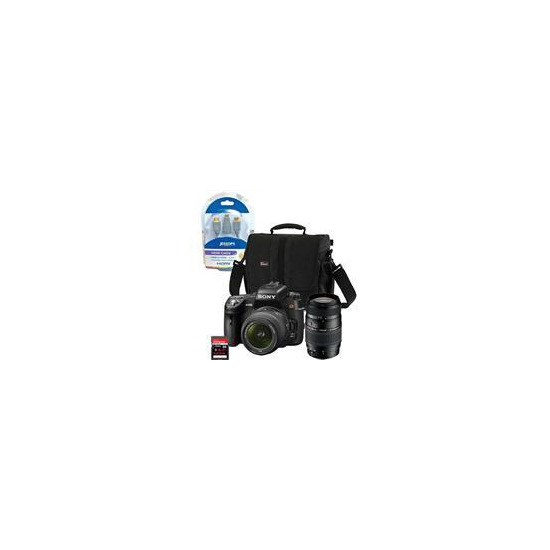 Sony Alpha DSLR-A580 with 18-55mm and Tamron 70-300mm lenses