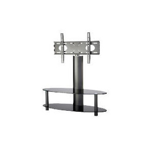 """Photo of Alphason ARB1100/2-BLK 2 Shelf Pedestal With Swivel Bracket Television Stand - For Up To 55"""" Screen TVs Turntables and Mixing Deck"""