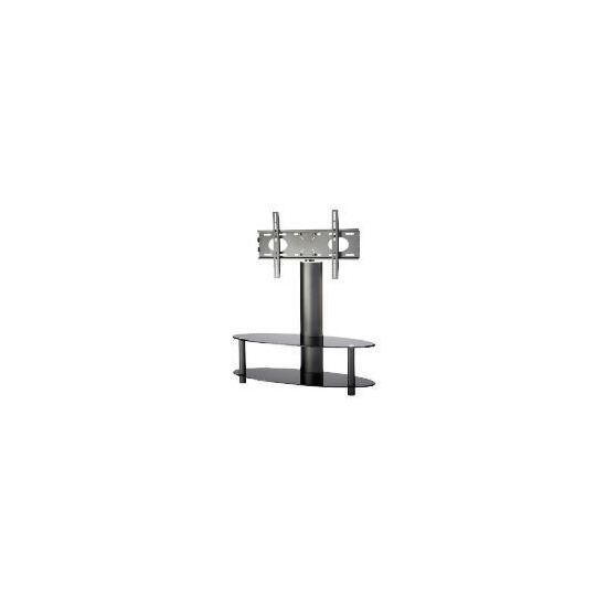 """Alphason ARB1100/2-BLK 2 Shelf Pedestal with Swivel Bracket Television Stand - For up to 55"""" screen TVs"""
