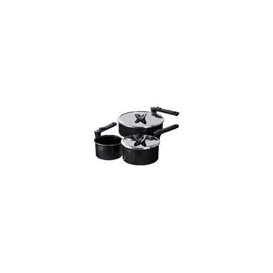 Tefal Compact Saucepan Set - 3 Piece