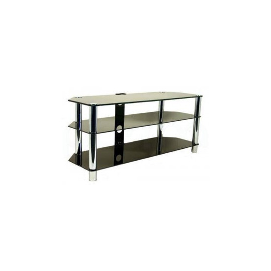 Universal LCD/LED/Plasma Black Glass 55  TV Stand