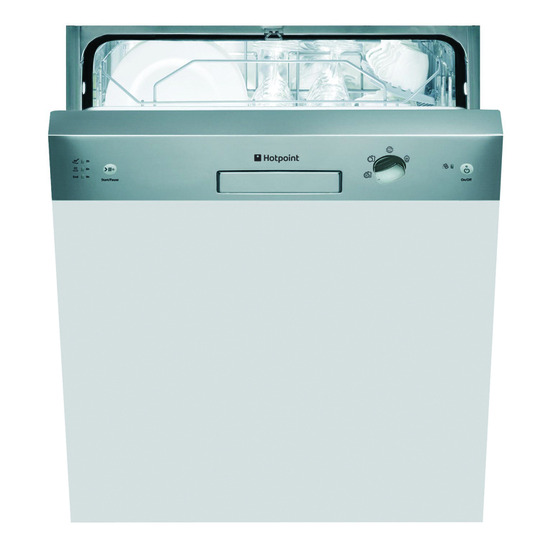 Hotpoint FDUD4212X Full Size Dishwasher Stainless Steel