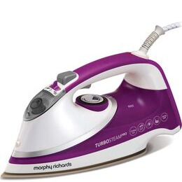 Morphy Richards Turbosteam Pro Pearl 303126 Steam Iron - White & Purple Reviews