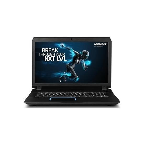 Medion Erazer X7853 Core i7-7820HK 16GB 2TB + 512GB SSD GeForce GTX 1070 Windows 10 Gaming Laptop