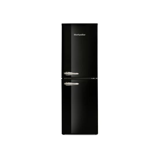 Montpellier MAB148K Retro Style 50-50 Freestanding Fridge Freezer - Black