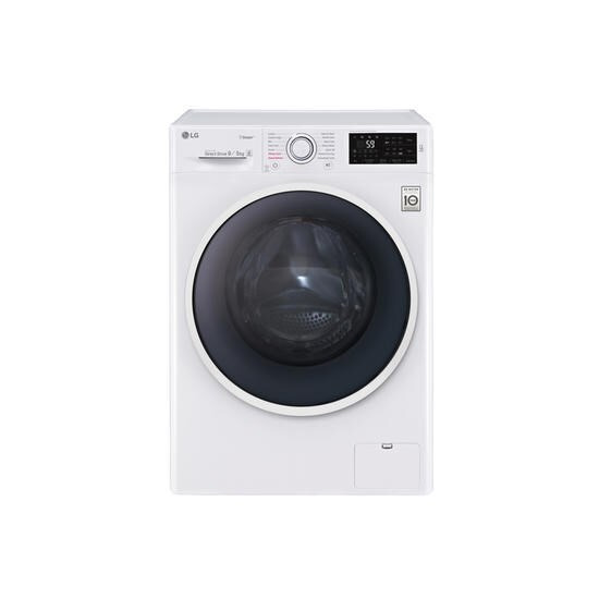 LG F4J6VG0W 9kg Wash 5kg Dry Freestanding Direct Drive Washer Dryer With Steam