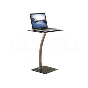 Photo of Black Glass and Chrome Laptop Table Laptop Accessory