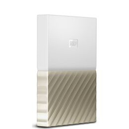 WD My Passport Ultra Portable Hard Drive - 1 TB White & Gold