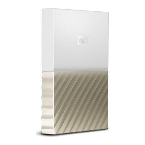 WD My Passport Ultra Portable Hard Drive - 1 TB White & Gold