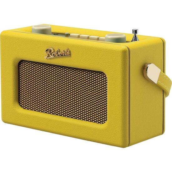ROBERTS Revival Uno Retro Portable Clock Radio - Yellow