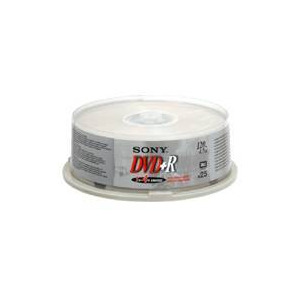 Photo of SONY DVD+R 4.7GB 8X 25 PACK SPINDLE DVD R