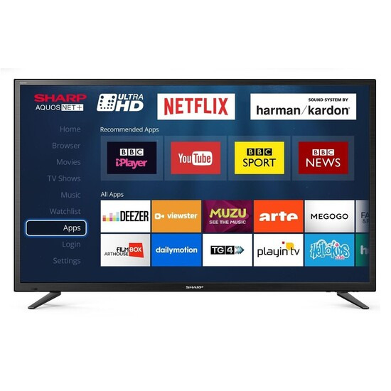 Sharp LC-49CUG8052K 49 4K Ultra HD Smart LED TV